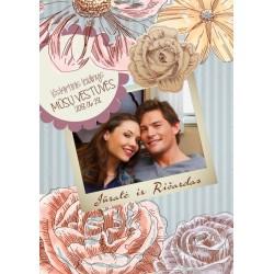 Vestuvių žurnalas | Retro gėlės